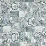 Декоративна тканина лонета мунді/mundi /карта ,сірий 148862, фото 2