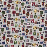 Декоративная ткань  лонета фокс/fox  мультиколор 148868, фото 2