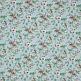 Декоративная ткань  лонета  неус/neus  цветы мелкие гранат,фон зеленый 148876, фото 2