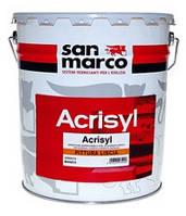 Краска матовая акрил - силоксановая против плесени на водной основе.ACRISYL PITTURA LISCIA San Marco