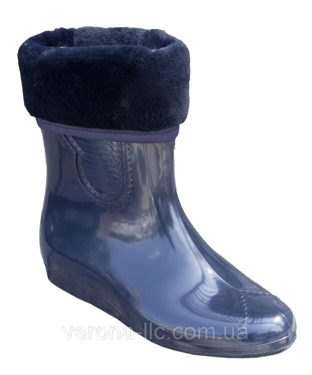 bd475f9b0 Сапоги резиновые женские силиконовые синие с мехом - Производство обуви