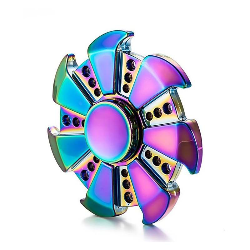 Спиннер разноцветный метал цветок спинер #101001