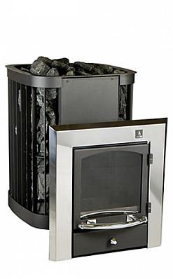 Дровяная печь для бани и сауны KASTOR SAGA 20 KSIL (выносная топка каминного типа)
