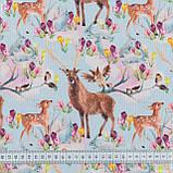 Декоративная ткань  бемби/bambi  олени 148893, фото 3