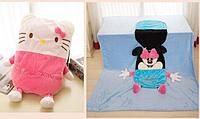 Детское одеяло трансформер Китти, 110*165 см ( одеяло подушка игрушка )