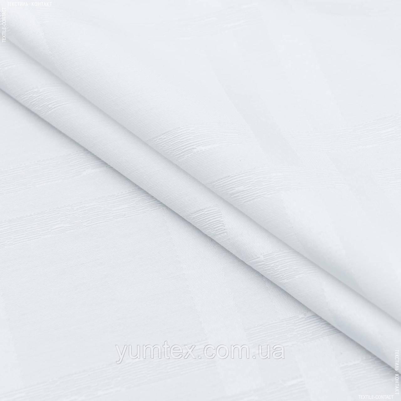 Скатертная  ткань жаккард улис/  ulises клетка,белый 148927
