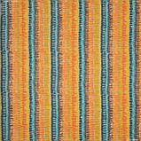 Декоративна тканина панама ібра/ ibra сірий,оранжевий,жовтий,блакитний 148947, фото 2