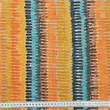 Декоративна тканина панама ібра/ ibra сірий,оранжевий,жовтий,блакитний 148947, фото 3
