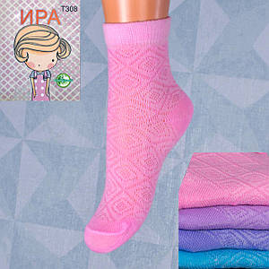 Детские носочки сетка на девочку Ира Т308 21-26. В упаковке 12 пар