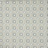 Декоративна тканина панама сорен/ soren ромб-ажур,беж,сірий 148975, фото 2