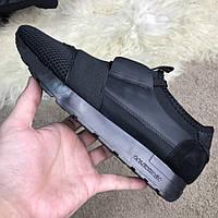 Мужские кроссовки Balenciaga Race Runner Black Баленсиага черные, фото 1