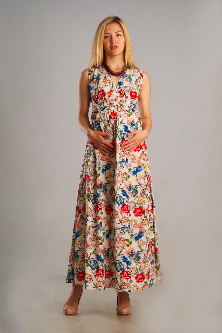 c419b9d96edcf55 Летнее длинное платье для беременных