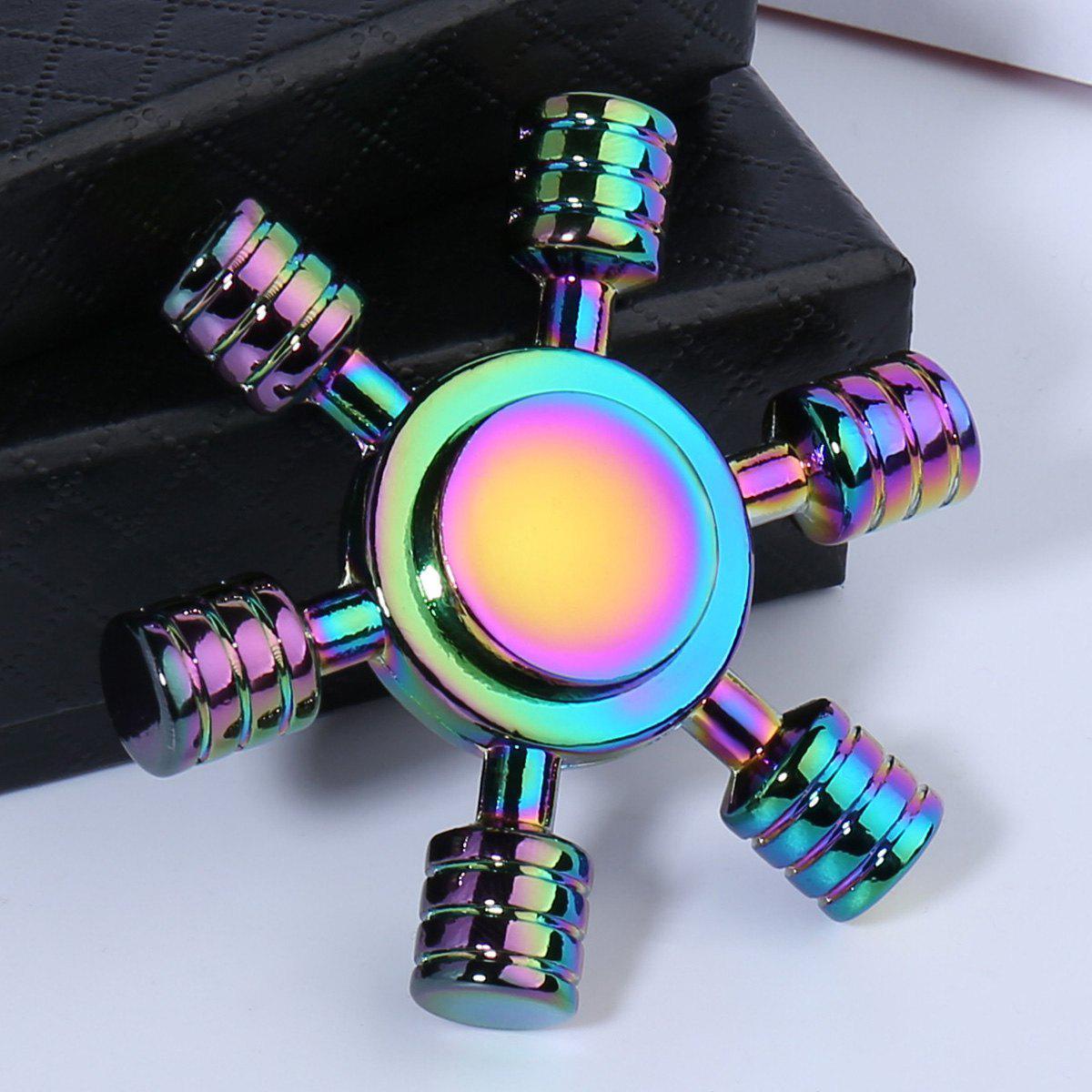 Спиннер разноцветный метал штурвал хамелеон спинер #101004