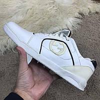 Мужские кроссовки Gucci White Гуччи белые, фото 1