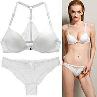 Белый комплект нижнего женского белья 75В, 80В