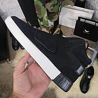 Мужские кроссовки Adidas Tubular Black Адидас Тубулар черные, фото 1