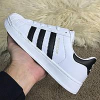 Мужские кроссовки Adidas Superstar White Адидас Суперстар белые, фото 1