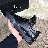 Мужские кроссовки Philipp Plein Black Филипп Плейн черные, фото 1
