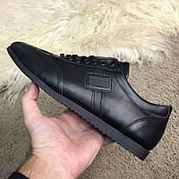 Мужские кроссовки Dolce Gabbana Black Дольче Габбана черные