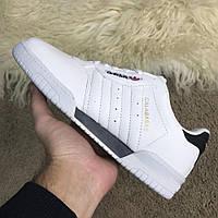 Мужские кроссовки Adidas Yeezy PowerPhase Calabasas White Адидас Изи Калабасас белые, фото 1