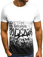 """Мужская футболка с надписью, белый """"Турция"""""""