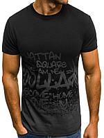 """Мужская футболка с надписью, черн-серый """"Турция"""""""