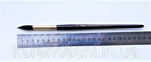 Кисть Pinax Poseidon 821 БЕЛКА микс № 8 круглая короткая ручка, фото 3