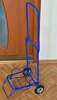 Тележка (кравчучка) хозяйственная, цельнометаллическая, железные колеса на подшипниках, высота 90 см
