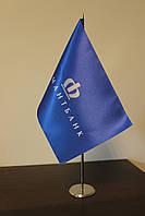 Флажки настольные с логотипом компании. Полиэстер