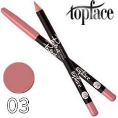 TopFace - Карандаш для губ PT-610 дерево водостойкий Тон 03 peach nature матовый