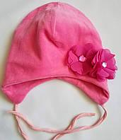 Шапка на завязках, цвет малина 44-46р