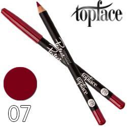 TopFace - Карандаш для губ PT-610 дерево водостойкий Тон 07 wine violet матовый