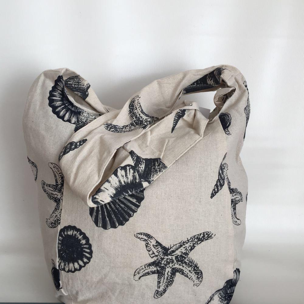 Пляжная сумка льняная