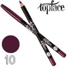 TopFace - Карандаш для губ PT-610 дерево водостойкий Тон 10 aubergine матовый