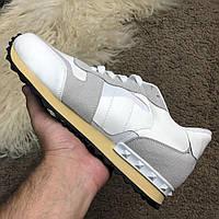 Мужские кроссовки Valentino White Валентино белые, фото 1