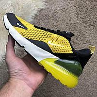 Мужские кроссовки Nike Air Max 270 Yellow Найк Аир Макс 270 желтые, фото 1