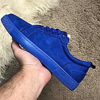 Мужские кроссовки Christian Louboutin Blue Suede Кристиан Лубутен синие, фото 1