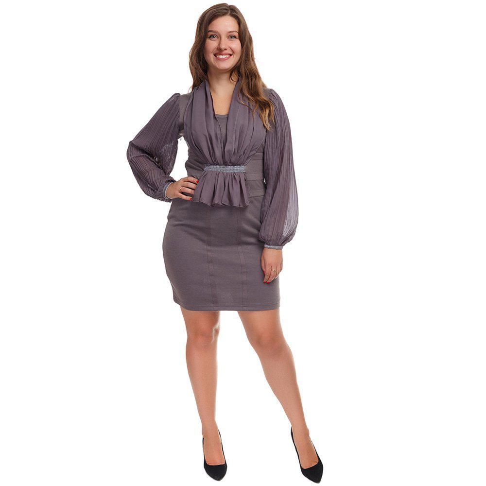 Платье женское 40р PG-A0025-SER - Optom-shop.com.ua - Оптовый интернет-магазин: Одежда и обувь оптом, нижнее белье недорого в Одессе