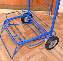 Тележка (кравчучка) хозяйственная, цельнометаллическая, железные колеса на подшипниках, высота 100 см