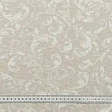 Скатертная ткань жаккард юно  цвет льна 148938, фото 3
