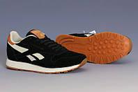 Мужские кроссовки REEBOK CL Leather Suede черные