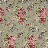 Жаккард  блом/ bloom /фон серый,цветы крупные 148956, фото 2