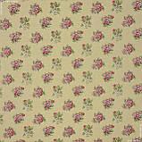 Жаккард блом/ bloom фон жовтий,квіти дрібні 148963, фото 2