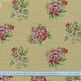 Жаккард блом/ bloom фон жовтий,квіти дрібні 148963, фото 3