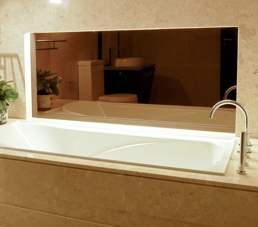 Зеркало бронза толщина 4 мм в прирезке