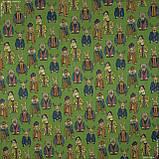 Жаккард animals фон зелений,звірятка кольорові 148967, фото 2
