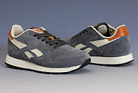 Мужские кроссовки REEBOK CL Leather Suede серые