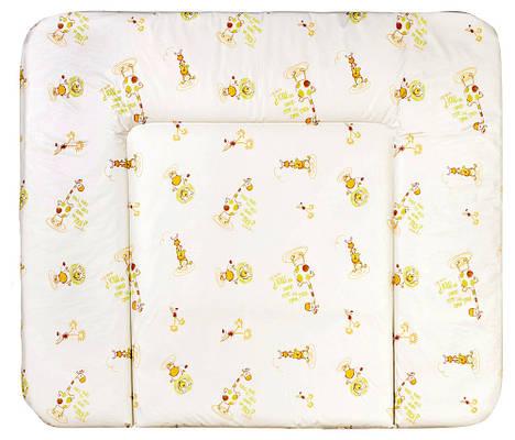 Пеленальный матрас Ceba Baby WD 85*70 multi Жирафы белый