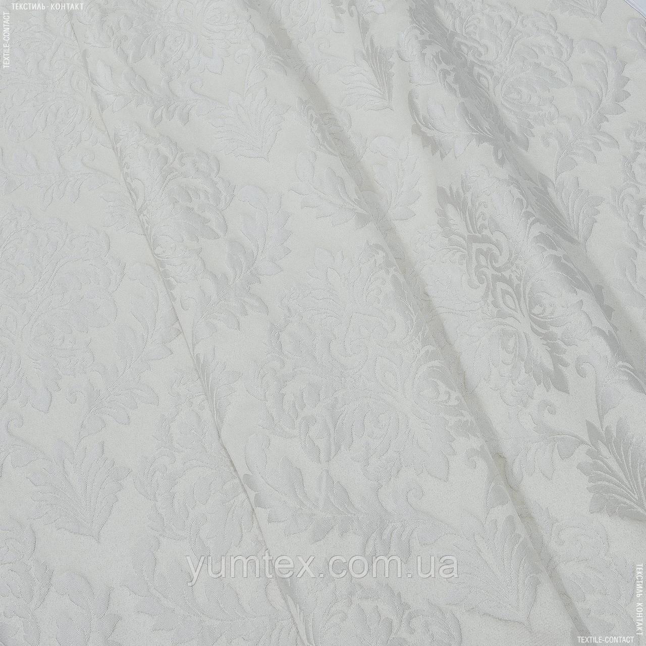Декоративная ткань джорджия вензель молочный 139259