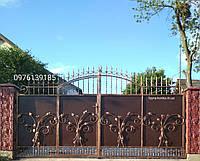 Кованые ворота, калиткой всередине 12850 , фото 1